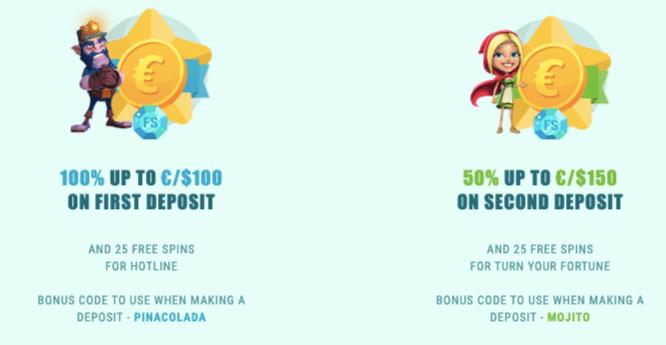 Spinia bonus welcome